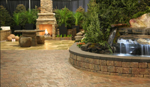 Paving stones and retaining walls